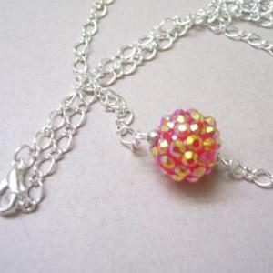 FireBall Resin Charm on Silver Plat..